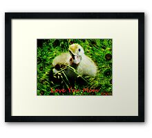 love- love you mom Framed Print