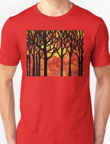 Abstract Fall Forest Unisex T-Shirt