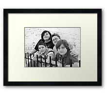 Jackie & Boys RO Framed Print