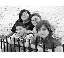 Jackie & Boys RO Photographic Print