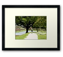 Nature-long walk Framed Print