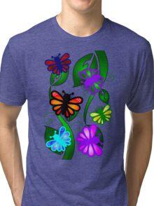 Butterfly Vines Tri-blend T-Shirt