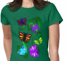 Butterfly Vines Womens Fitted T-Shirt