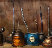 Machinist - Tools - Lubircantion Dispensers  by Mike  Savad