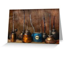 Machinist - Tools - Lubircation Dispensers  Greeting Card