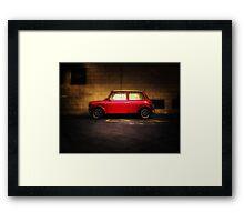 Wee Red Mini Cooper Framed Print