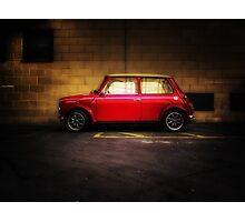 Wee Red Mini Cooper Photographic Print