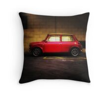 Wee Red Mini Cooper Throw Pillow