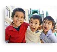 3 Boys Crazy Faces RO Canvas Print