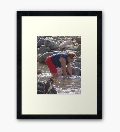 Hard Working Woman - Mujer Trabajando Duro Framed Print