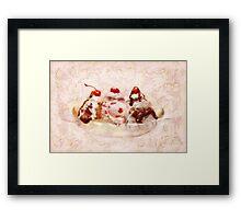 Sweet - Ice Cream - Banana split Framed Print