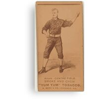 Benjamin K Edwards Collection Jimmy Ryan Chicago White Stockings baseball card portrait 001 Canvas Print