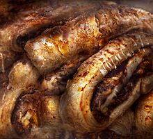 Sweet - Strudel - Almond Strudel Abstract by Mike  Savad