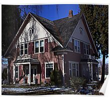 Pink House Poster