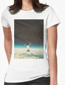 Falling with a hidden smile Womens Fitted T-Shirt
