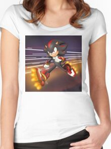 Sonic Boom: Shadow the Hedgehog Women's Fitted Scoop T-Shirt