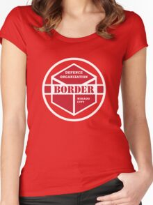 Border  Organization Anime World Trigger Women's Fitted Scoop T-Shirt
