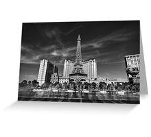 Las Vegas 016 BW Greeting Card