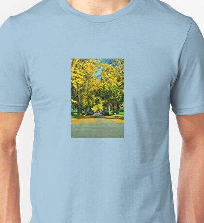 Neighborhood in Autumn Unisex T-Shirt