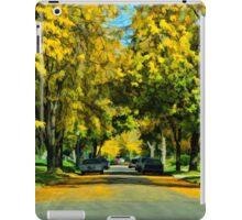 Neighborhood in Autumn iPad Case/Skin