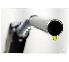 Oil drop coming out of petrol pump nozzle Poster