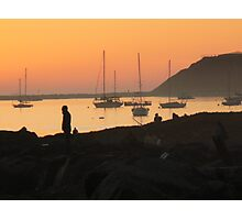 Sunset with silhouette Photographic Print