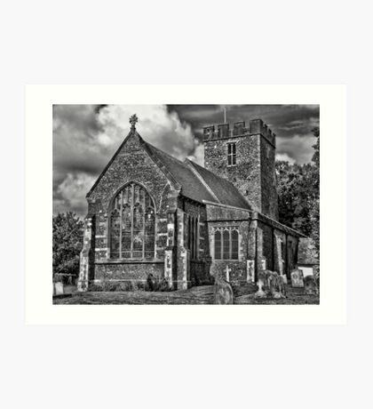 St Andrews Church, Wickhambreux Art Print