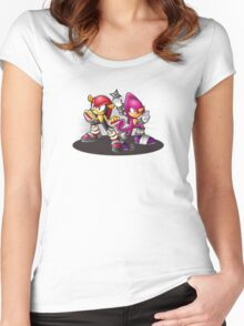 Mighty and Espio Ready for Battle Women's Fitted Scoop T-Shirt