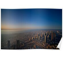 Sunset on the Burj Poster