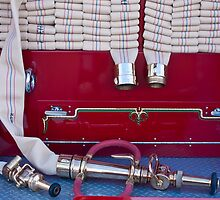 1952 L Model Mack Pumper Fire Truck Hoses by Jill Reger