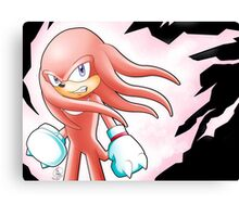 Hyper Knuckles the Echidna Canvas Print