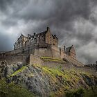 Rain Clouds Over Edinburgh Castle by Aj Finan