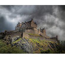 Rain Clouds Over Edinburgh Castle Photographic Print