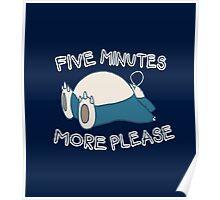 Snorlax wants to sleep - Pokemon Poster