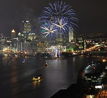 Fireworks over the Three Rivers by Shadrags