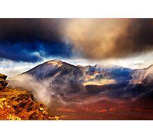 Sunset Over Haleakala Crater 2 Photographic Print