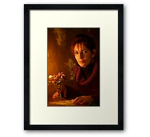 Miracle of a candle light .  Evita - Lady Primavera . by Doktor Faust. « Arrête-toi, tu es si beau ! » Dr.Faust . Johann . Goethe  Featured in MUSE @ Everyday Women @ Lips @ STUDIO LIGHTING GROUP .  Framed Print