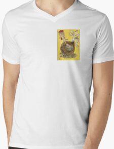 Hen Nesting Mens V-Neck T-Shirt