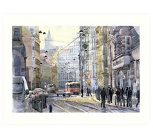 Prague Vodickova str variant Art Print