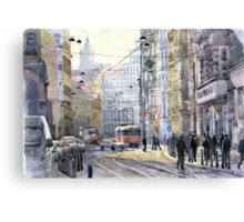 Prague Vodickova str variant Canvas Print