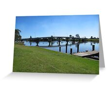 Bridge over Richmond River to 'Casino' from Woodburn. N.S.W. Greeting Card