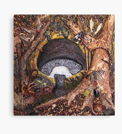 Toadstool Cement Canvas Print