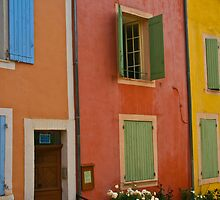 Colorful buildings in southern France by KSKphotography