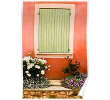 Shutter with window box green  Poster