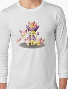 Pokemon: Mama Delcatty and her Baby Skitty Long Sleeve T-Shirt