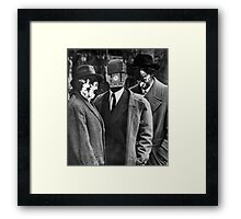 Painting Police. Framed Print