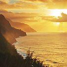 Na Pali Sun Rays by Nolan Nitschke