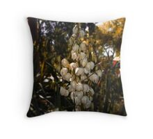 Yucca Plant Flower Spike Throw Pillow