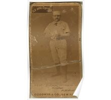 Benjamin K Edwards Collection Pud Galvin Pittsburgh Alleghenys baseball card portrait 001 Poster