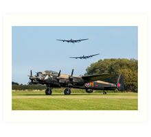 Three Lancasters at East Kirkby Art Print